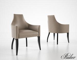 3d baker kalisto dining chair model
