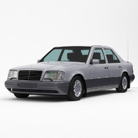 mercedes-benz e-class w124 3d model