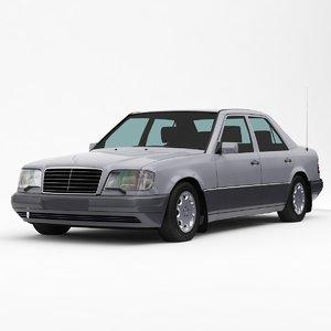 mercedes-benz e-class w124 3d model