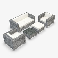 furniture synthetic rattan obj