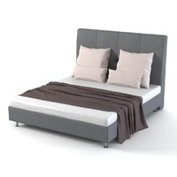 double bed 3d max