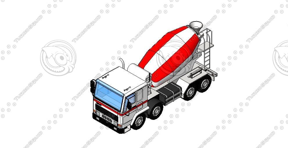 concrete truck 2012 revit rfa free