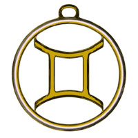 gemini zodiac symbol blend