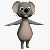 cartoon mouse 3d model
