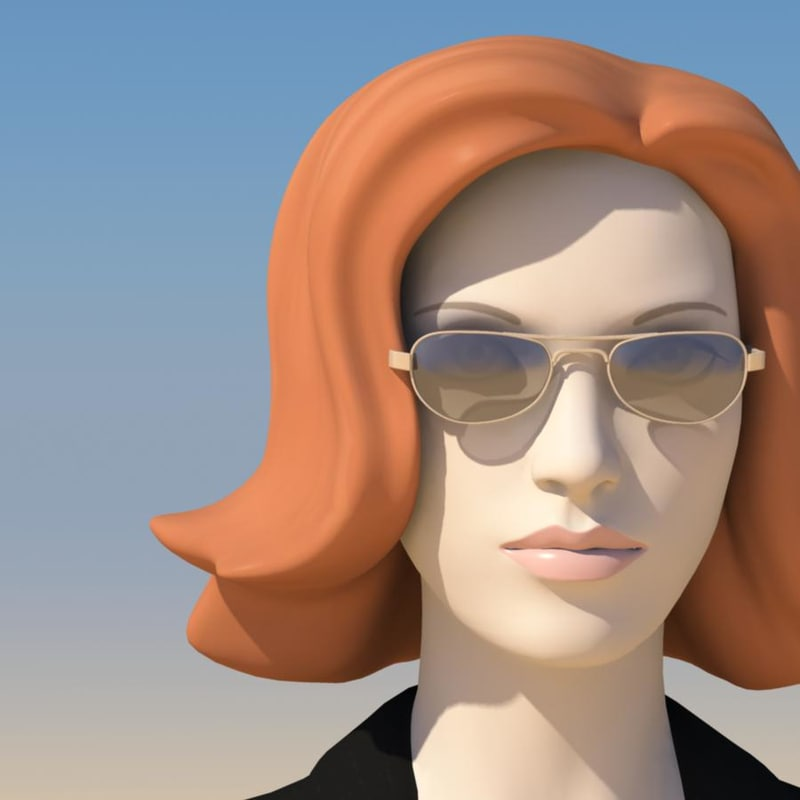 fbx young woman face morphs