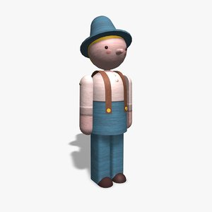 3ds max wooden toy character