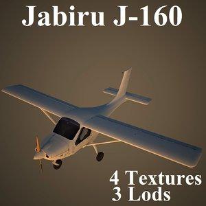 3d model jabiru low-poly aircraft
