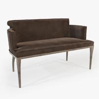 3d modern bench model