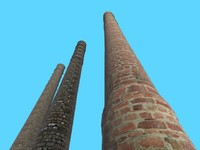 3d chimney bricks