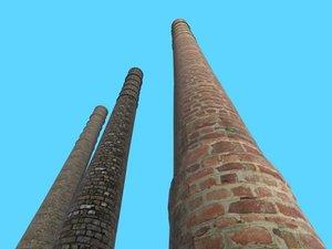 3d chimney bricks