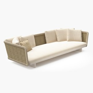 paola lenti - sofa 3d model