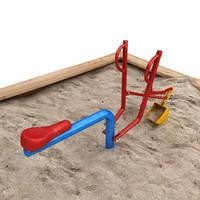 3d sand digger dig model