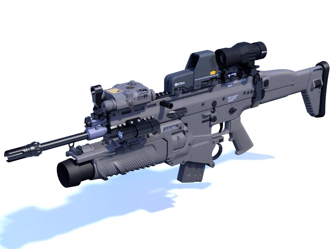 3d fn rifle gun model