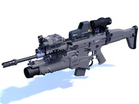 3d fn rifle gun model