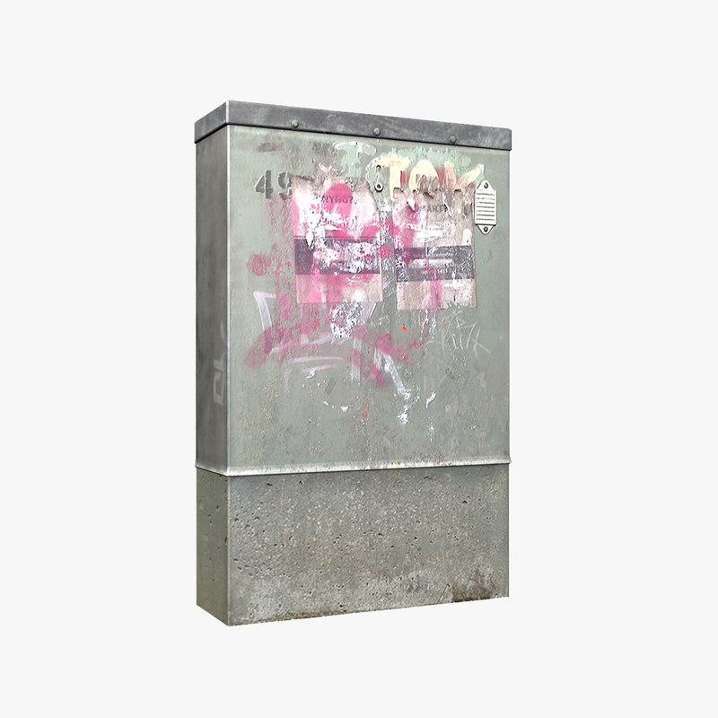 3dsmax galvanized phone junction box
