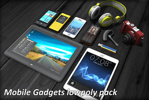 3d fbx mobile gadgets pack phone