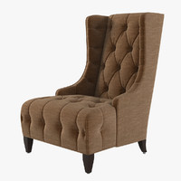 Celine Tufted Wing Chair