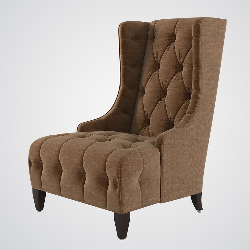 0d948875d34 3d celine tufted wing chair