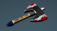 3d x fantasy axe