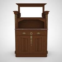 max art nouveau cabinet