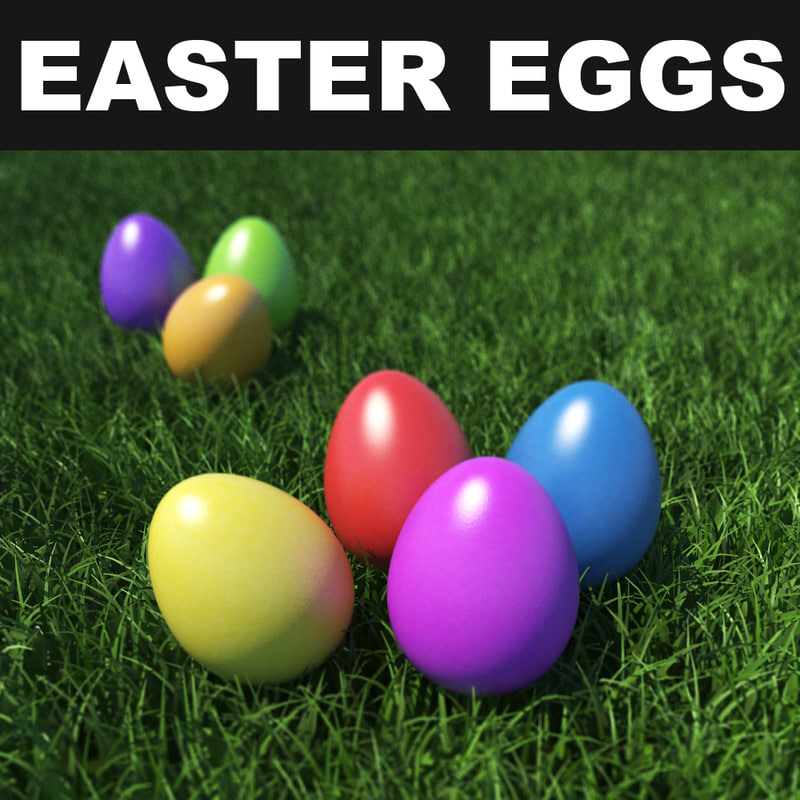 easter eggs 3d max