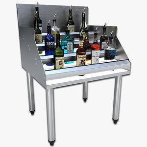 liquor stand 3d 3ds