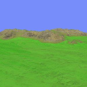 3d heightmap model