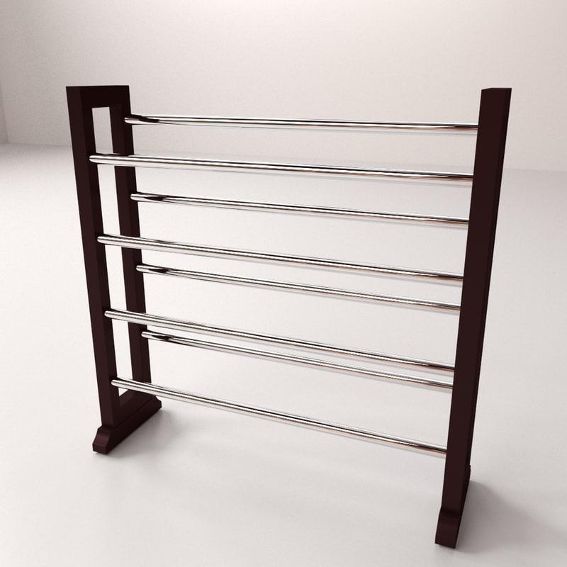 3d model shoe rack v2