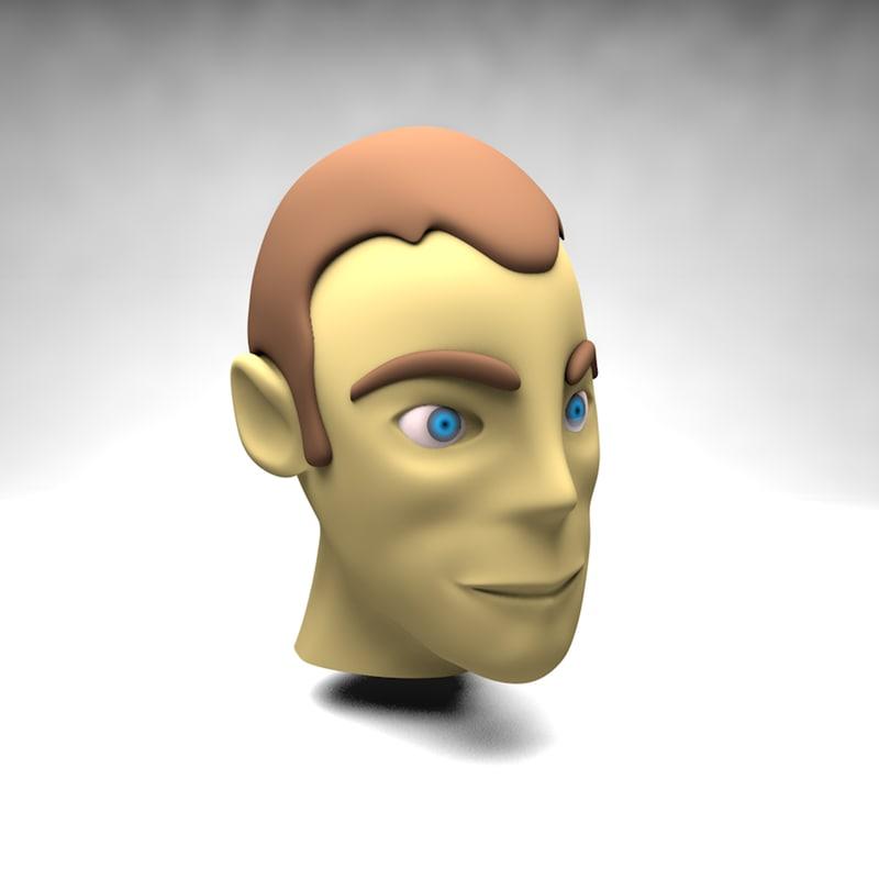 3d model cartoon head