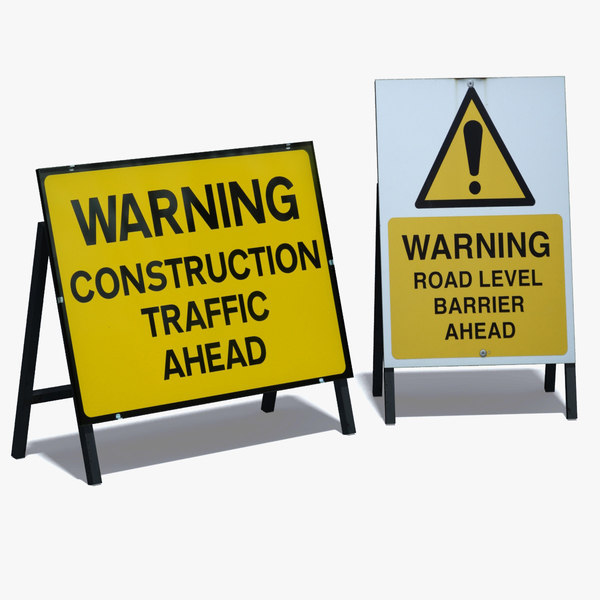 3ds max road warning signs