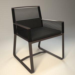 dining chair kettal landscape 3d model