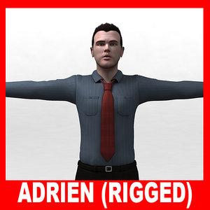 realistic dressed man adrien max