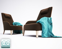 chair with towel FEBO B&B Italia
