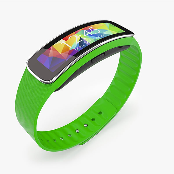3d model samsung gear fit