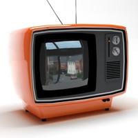 free c4d model retro tv
