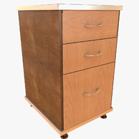 Simple office chest of drawers Big Table prop detail room living (2) (2) night small table