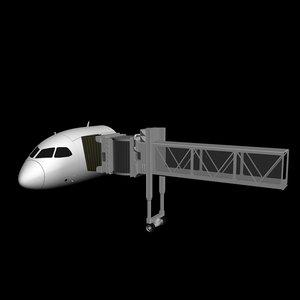 3ds max boarding bridge
