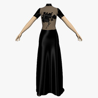 3d evening dress female mannequin