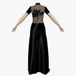 3d evening dress female mannequin