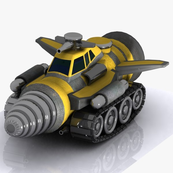 armoured drill vehicle 3d 3ds