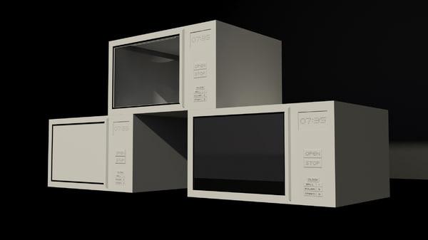 3d model microwaves oven