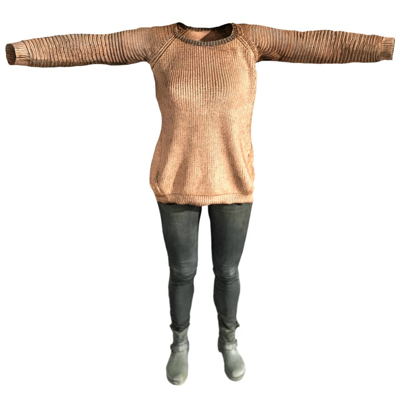 casual outfit 3d obj