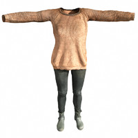 3d model casual outfit