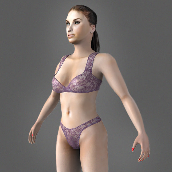 realistic nude woman body 3d model