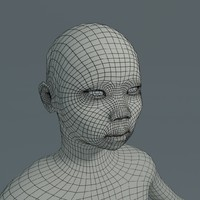 3d boy asian basemesh model