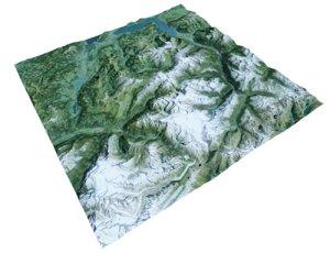 3ds max alpine lanscape