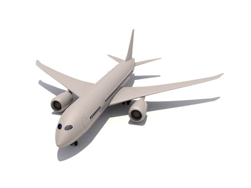 cinema4d boeing 787 dreamliner airplanes
