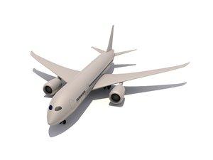 cinema4d boeing 787 dreamliner airplanes
