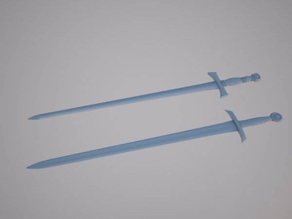 sword broadsword 3d model