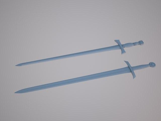 sword broadsword 3d model